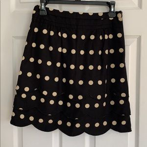 Anthropologie Floreat Polka Dot Skirt